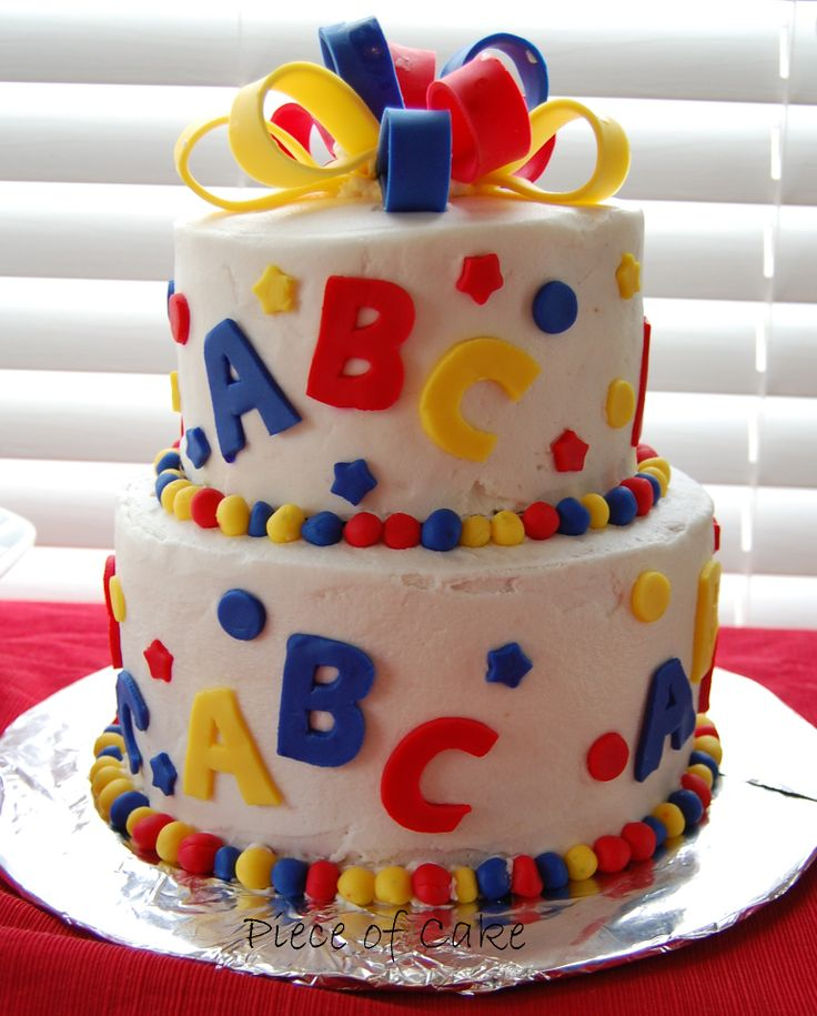 Pin abc for kids book of cakes ii decorating birthday for Abc cake decoration