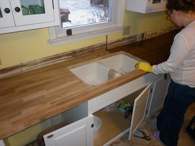 ikea butcher block countertops staining kitchen pinterest