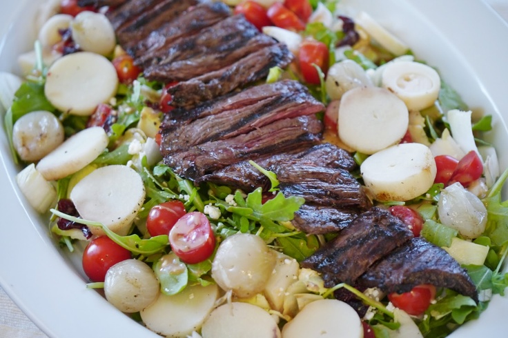 Endive and Arugula Salad with Skirt Steak www.cravesandsaves.blogspot ...