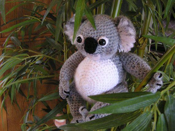 Crochet Pattern Koala Bear : PDF Crochet Pattern KOALA