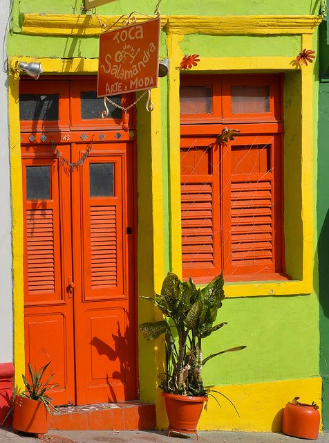 Olinda Colorida, Pernambuco, Brazil  by Lamartine Teixeira, via Flickr.com