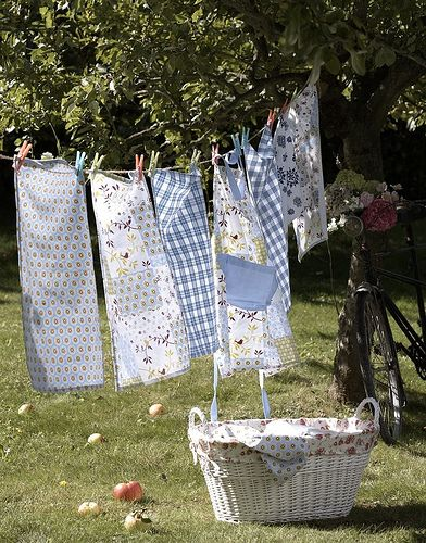 I love hanging laundry on the line...