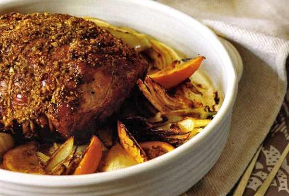 Slow-Roasted Pork Shoulder with Fennel and Orange