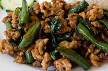 Gai Pad Krapow (Thai Basil Chicken)   I can't cook...but I'm trying ...