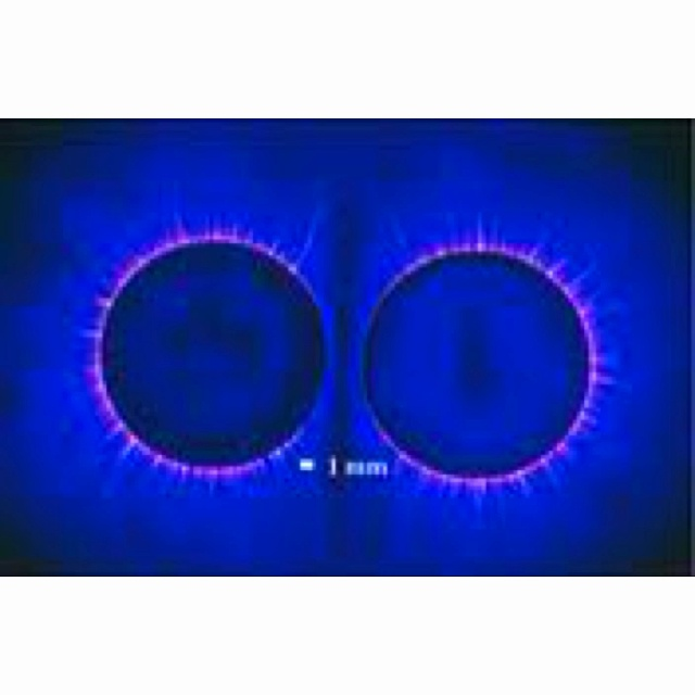 kirlian photograph of two coins