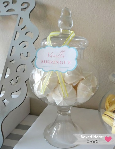 Vanilla meringue in apothecary jar by Boxed Heart Events #desserts # ...