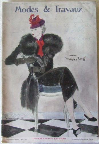Magazine modes et travaux n 403 oct 1936 patron for Magazine maison et travaux