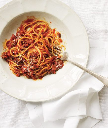 Slow-Cooker Spaghetti Bolognese | Get the recipe: http://www ...