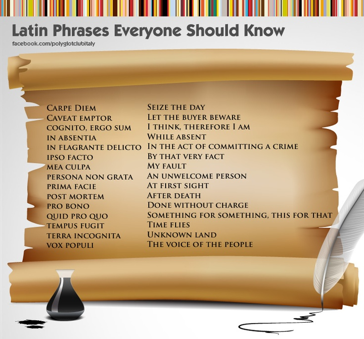 Latin quotes and sayings