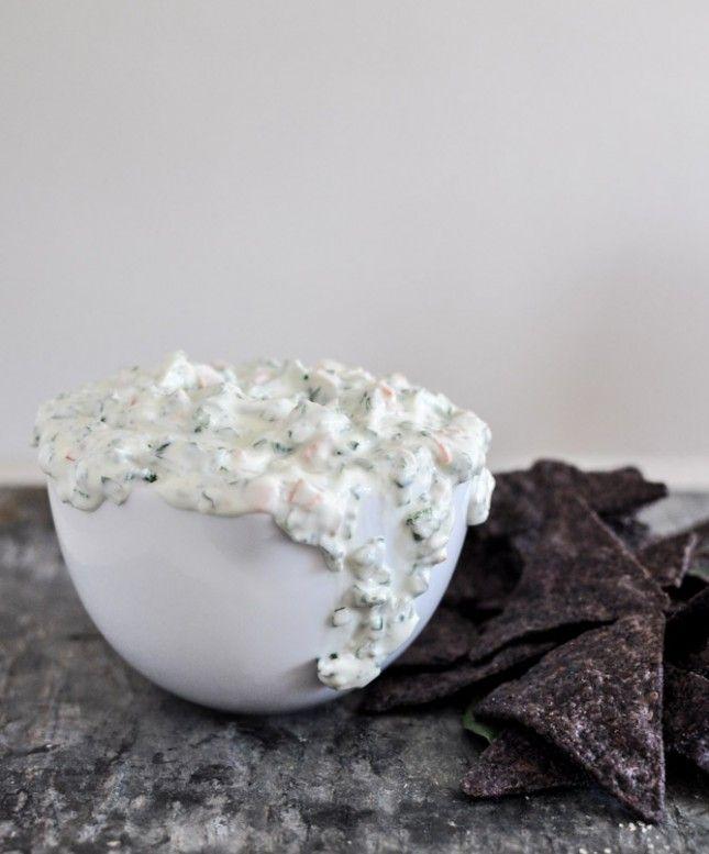 Healthy Snack: Greek Yogurt Spinach and Kale Dip