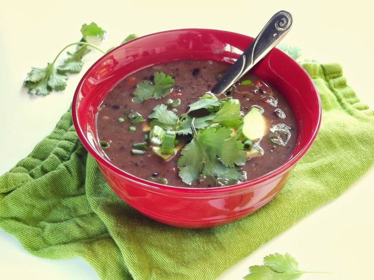 Spicy Black Bean Soup | Recipes To Try Soup | Pinterest