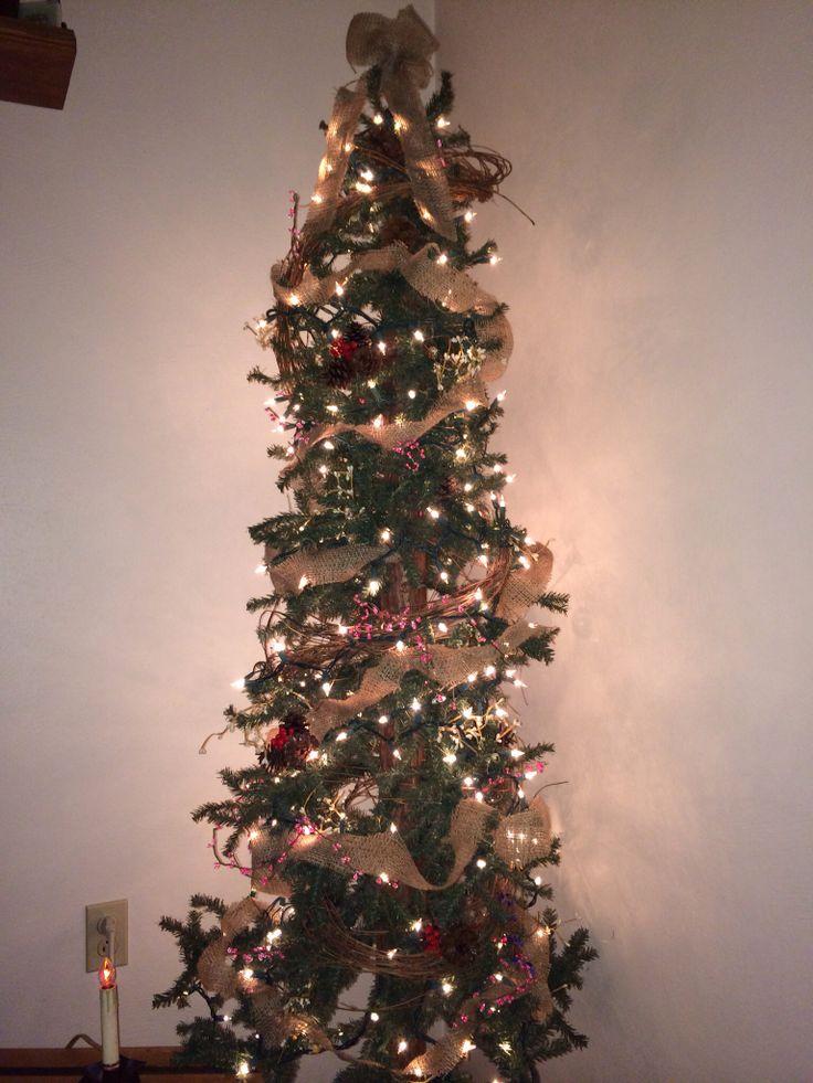 Burlap Pencil Tree Home Decor Christmas Pinterest