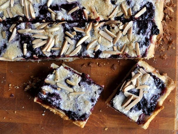 Blackberry bars. Jam-based bars over a shortbread crust. Can use ...