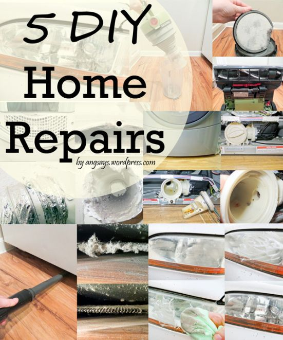 Save money with these easy home repairs. angsays.wordpress.com
