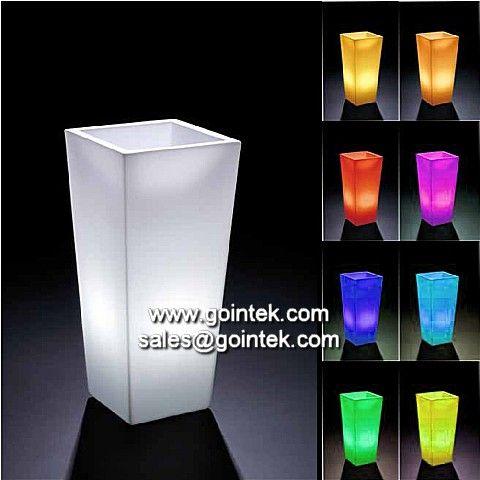 Illuminate light up plastic flower pot illuminated led for Light up flower lamp