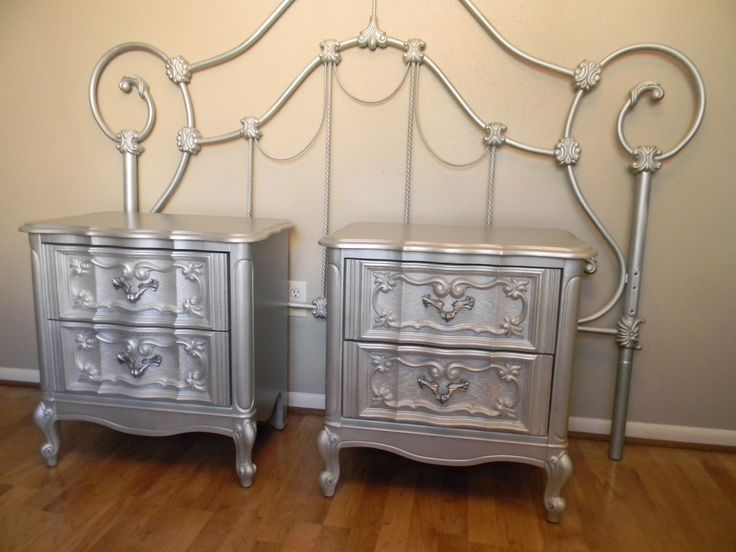 Metallic Night Stands Bedroom Themes Pinterest