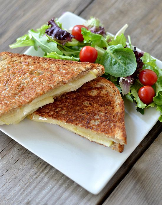 Grilled Havarti Cheese and Apple Sandwich ...I'm thinking cut bite ...