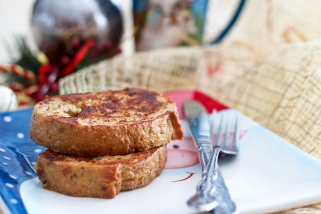 Healthy Eggnog French Toasts [with an optional kick!] | Recipe