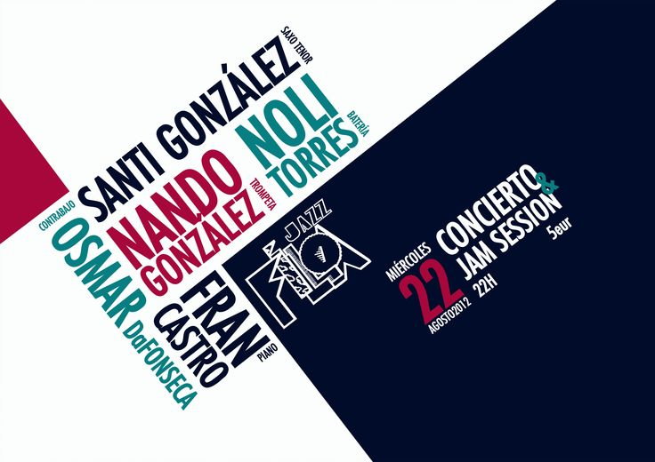 by Vanessa Liste poster jazz concert cartel sala jazz filloa graphic ...