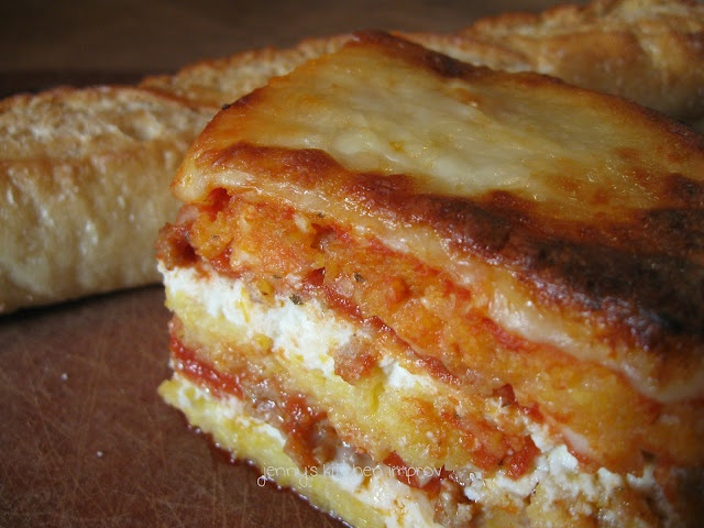amazing polenta lasagna - gluten free, but you'd never know, really