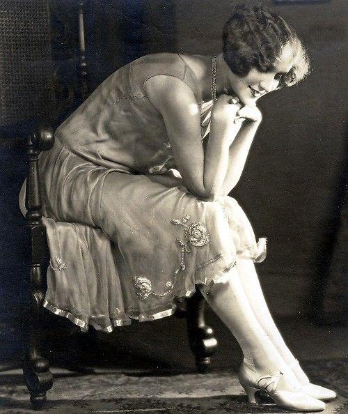 free vintage photo Flapper