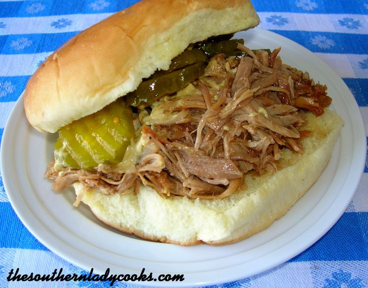 CROCK POT PULLED PORK BARBECUE: from Southern Lady Cooks... this looks ...