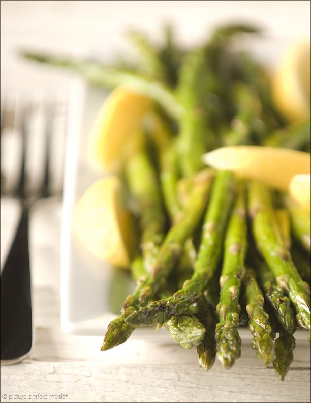 Simple Roasted Asparagus - a little olive oil, salt and pepper is all ...