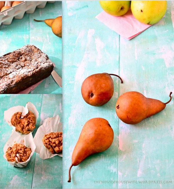healthier apple and pear walnut loaf. Made with no butter and whole ...