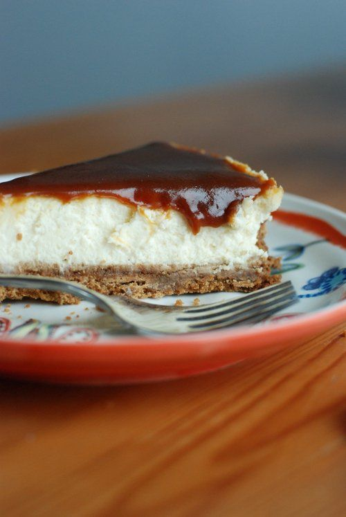 goat cheese caramel cheesecake | Delicious Finds | Pinterest
