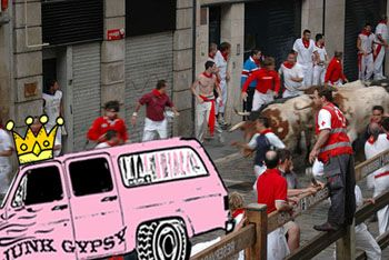 running with the bulls...
