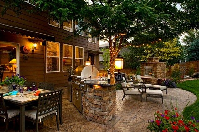 outdoor patio grill designs for the home pinterest