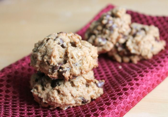 ... whole wheat flour, rolled oats, real peanut butter, and sucanat sugar