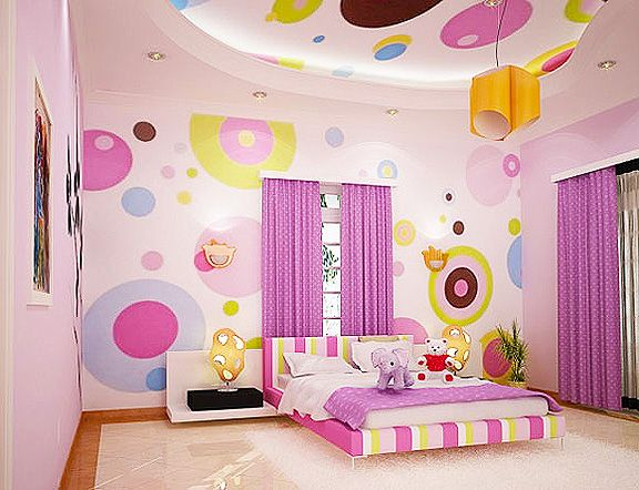 Purple mixed with bright colors makes a fun kids modern room come alive. #BRITAXStyle