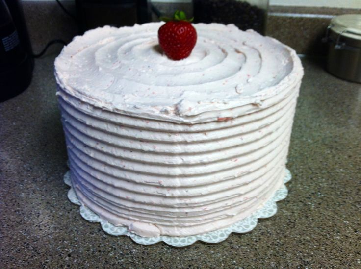 chiffon cake with a lemon lime curd filling and a fresh strawberry ...