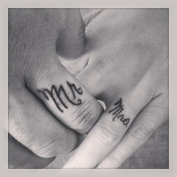Husband And Wife Ring Finger Tattoos My Style Pinterest