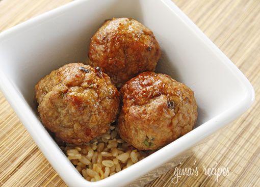 Asian turkey meatballs skinnytaste.com