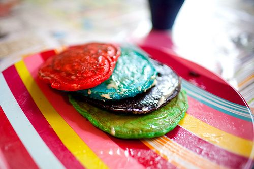 More like this: rainbow pancakes , pancakes and rainbows .
