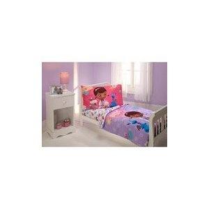 Disney Dottie Doc Mcstuffins TODDLER Bedding Set Comforter Sheets NEW 4 Pc