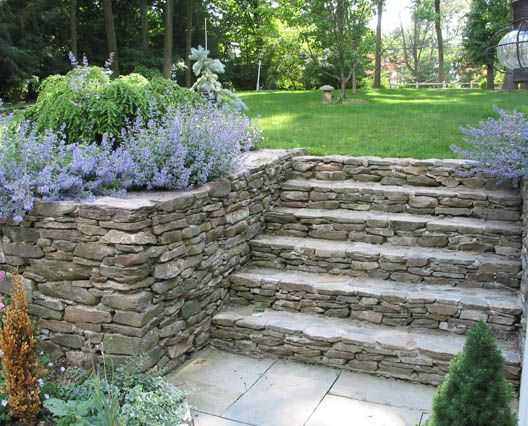 Fieldstone Walls Landscaping : Fieldstone wall and steps landscaping pinterest