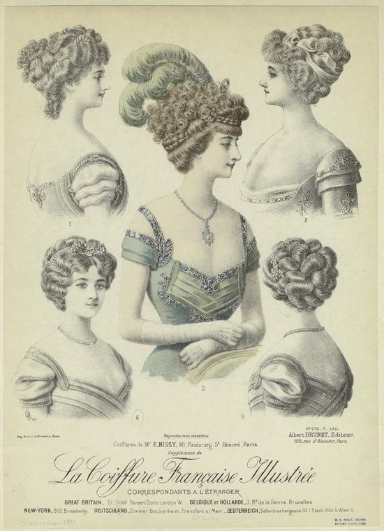 Начало 19 века прически