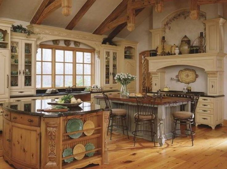 Old World Tuscan Kitchen Island For The Home Pinterest