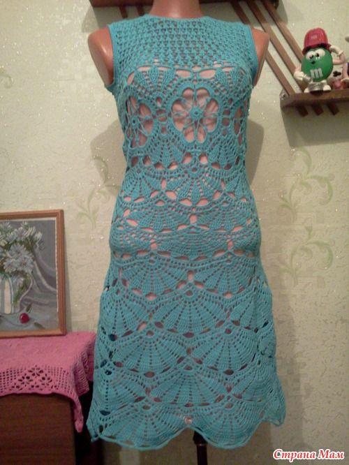 Вязание крючком платья из хлопка 172