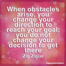 Obstacles / Change / Reach / Goals / Decisions