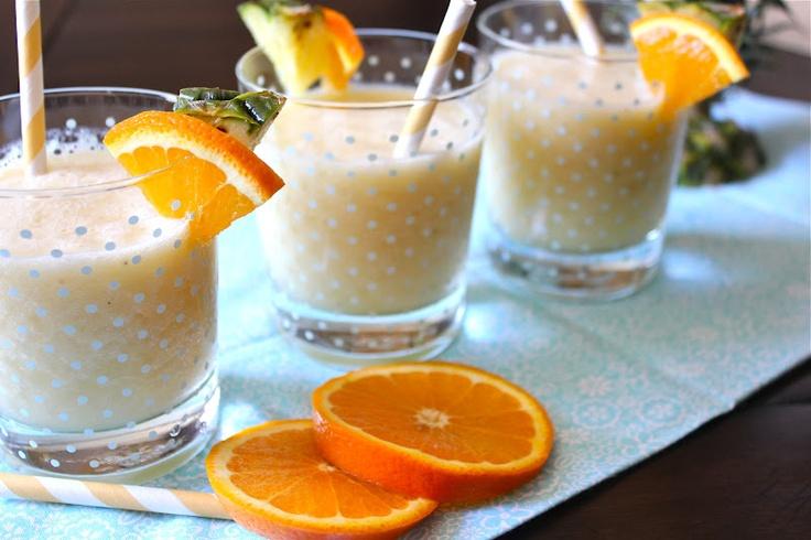 Orange Pineapple Banana Smoothie | health and fitness | Pinterest