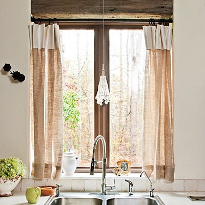 Banded cafe curtain curtains pinterest - Pinterest kitchen window treatments ...