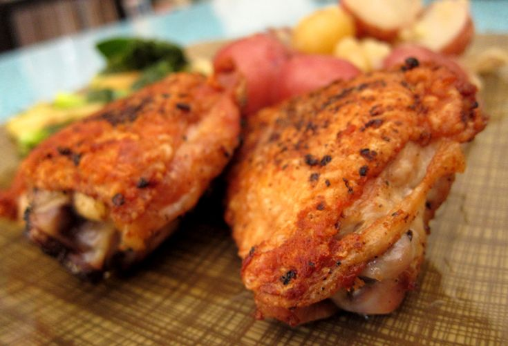 pan roasted chicken thighs   Recipes   Pinterest