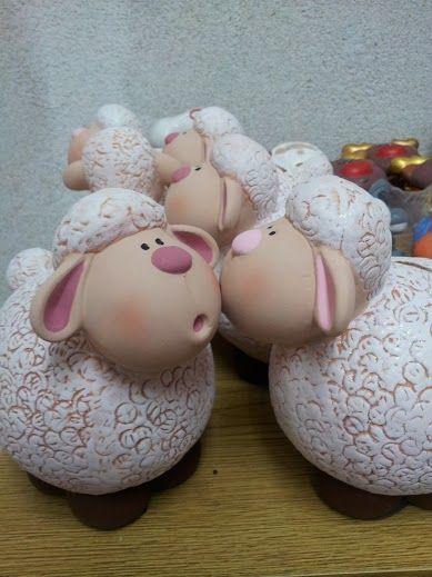 Alcancнas de borregos, Sheep piggybanks www.estuchedemonerias.com.mx