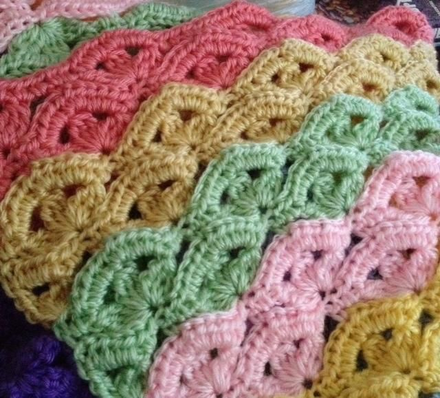 Crochet Stitches Wave : Irish Wave Baby Afghan by Bizzy Crochet Crocheting Pattern - Looking ...