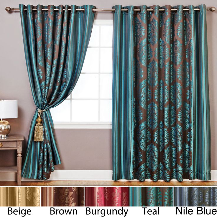 These luxurious 84-inch wide curtains turn any space into an oasis of ...