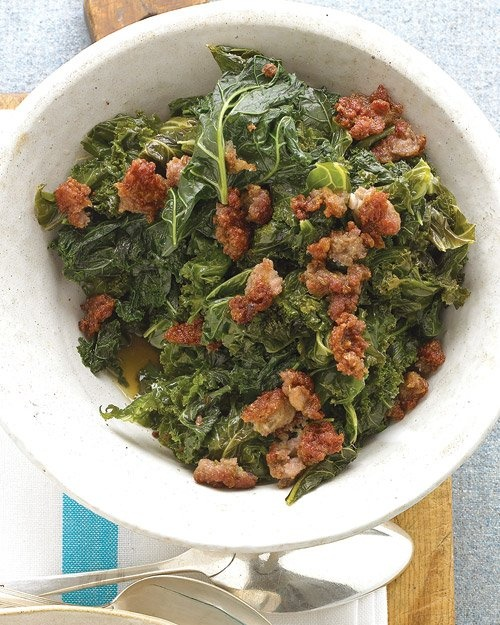 Kale with Sweet Sausage | Recipe